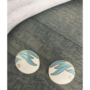 Vintage Abstract Rounded Post Earrings